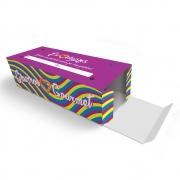 Caixa| Embalagem para Delivery 2 Churros ROXO - 100 unidades