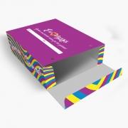 Caixa| Embalagem para Delivery 4 Churros ROXO - 100 unidades