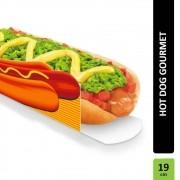 Caixa | Embalagem para Hot Dog 19cm LARANJA - 300 Unidades