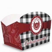 Caixa | Embalagem para Porções e Batata Frita XADREZ - 100 Unidades