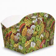 Caixa | Embalagem para Porções e Batata Frita VERDE - 100 Unidades