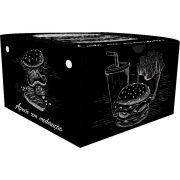 Caixinha Box Embalagem Hamburguer Gourmet 500un Várias Cores