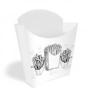 Caixinha | Embalagem para Batata Frita BRANCO E PRETO - 100 unidades