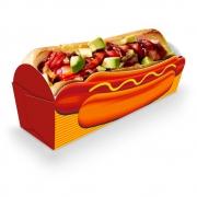 Caixinha | Embalagem para MINI Cachorro Quente LARANJA - 100 unidades