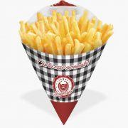 Cone | Embalagem para Batata Frita e Porções XADREZ PEQUENO - 100 unidades