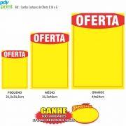 Combo Cartazes Oferta P, M, G 200 unidades Cada - Grátis 100 Splashes de Oferta