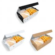 Delivery | Box para Combos (Hambúrguer e Batata Frita) VÁRIAS CORES
