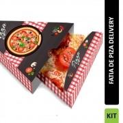 Delivery | Embalagem de Fatia de Pizza para Viagem XADREZ - 300 unidades