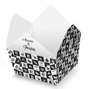Box | Embalagem Delivery para Frango / Carne Assado ou Grelhado PRETO E BRANCO - 100 unidades
