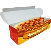 Delivery | Embalagem para Hot Dog 20cm LARANJA - 100 unidades
