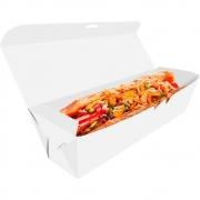 Delivery   Embalagem para Hot Dog 25cm BRANCO - 100 unidades