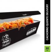 Delivery | Embalagem para Hot Dog 30cm PRETO - 300 unidades