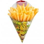 Cone | Embalagem Grande para Batata Frita e Porções – Verde – 500 Unidades