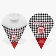Embalagem Cone para Salgados PEQUENA VÁRIAS CORES – 100 Unidades