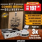 KIT Embalagens para Combos Delivery MÉDIO