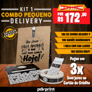 KIT Embalagens para Combos Delivery PEQUENO