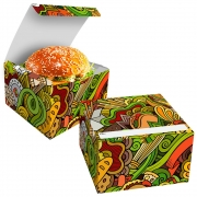 OFERTA | 100 Box Hamburguer Grande + 100 Caixas  Batata Frita Delivery VERDE