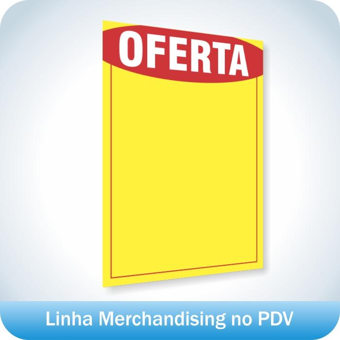 Cartaz de Ofertas e Promoções Pequeno 100 unidades