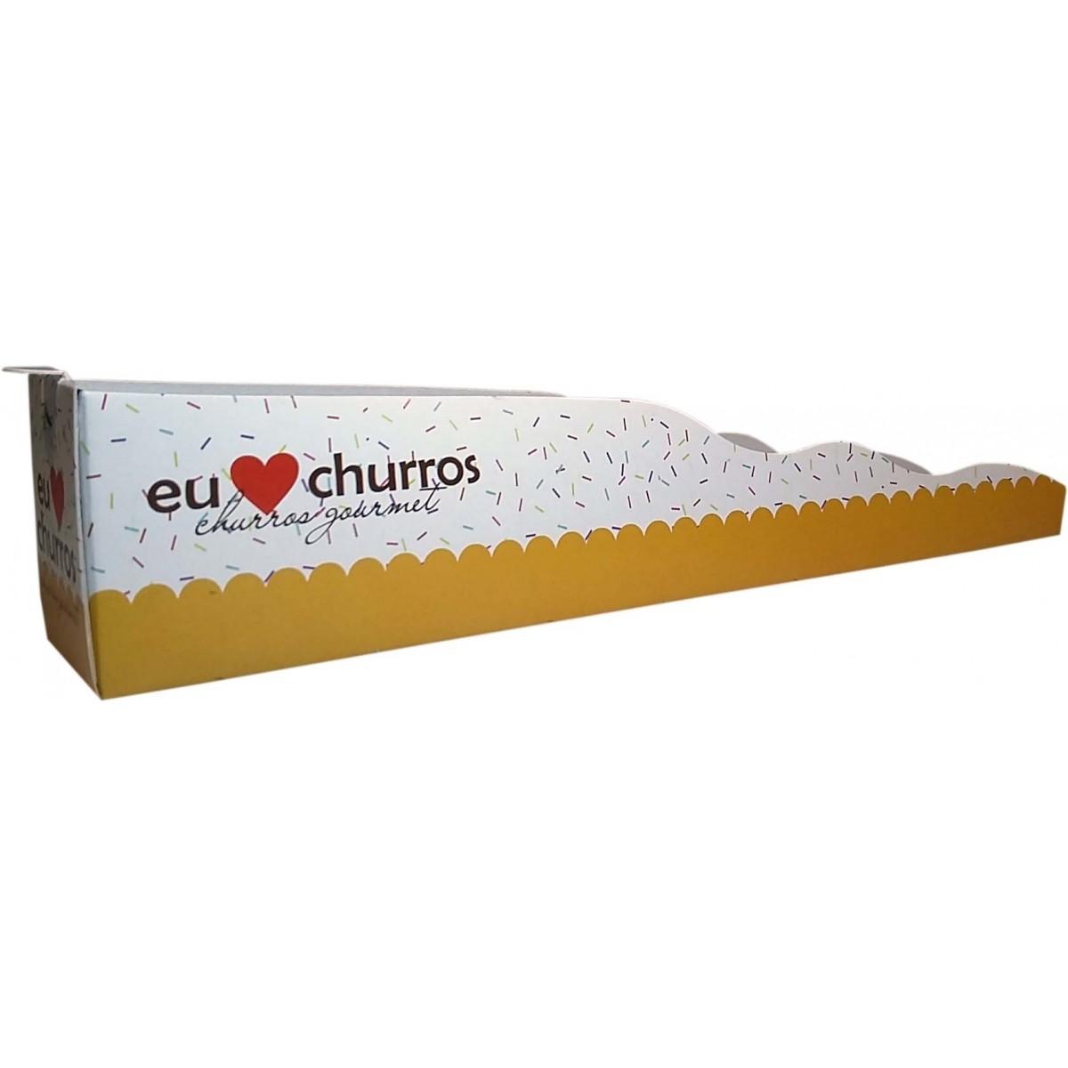 Embalagem para Churros Gourmet Amarela - 500 unidades