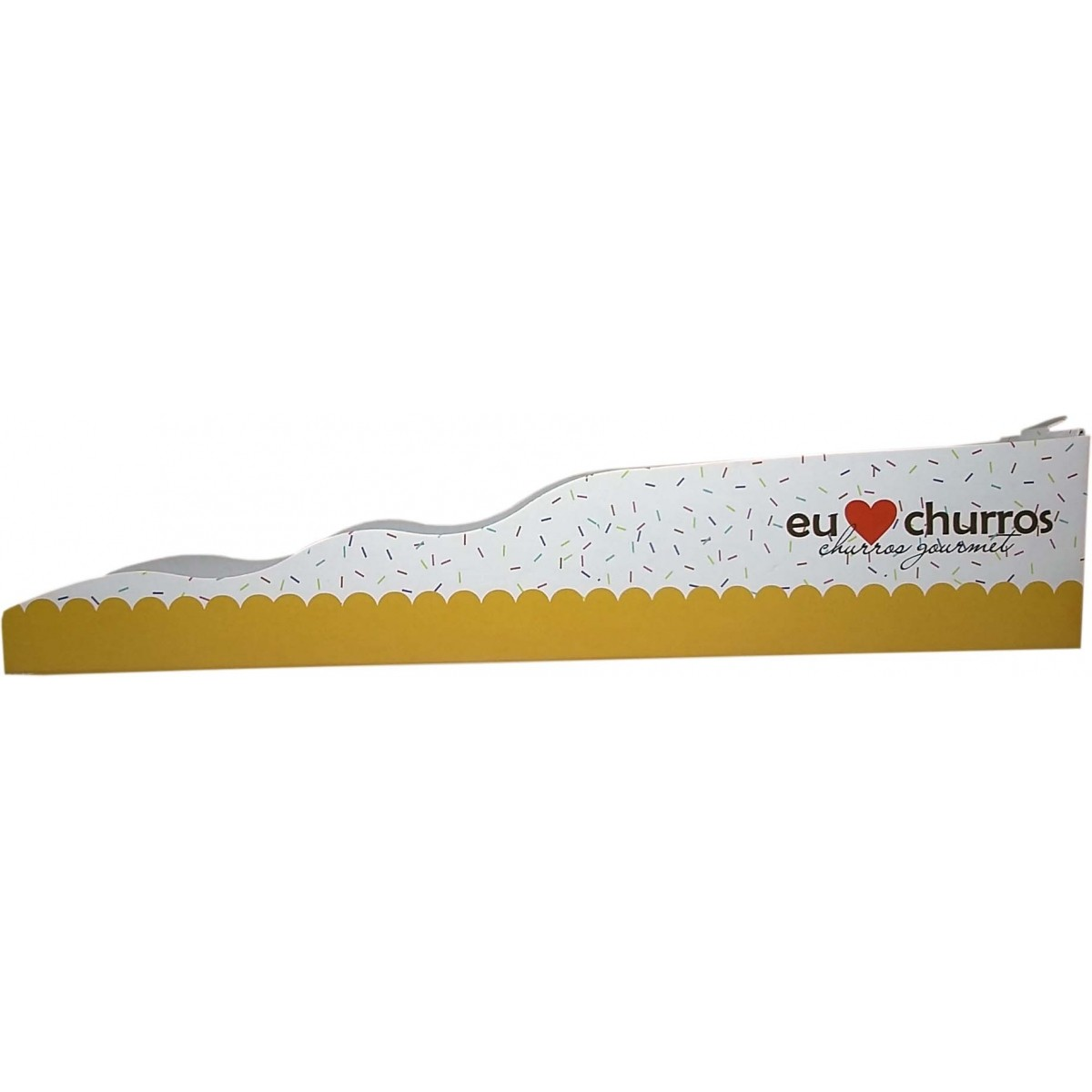 Embalagem para Churros Gourmet Amarela - 1000 unidades