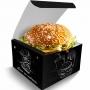 Box   Embalagem para Hambúrguer Delivery GG PRETO - 100 unidades