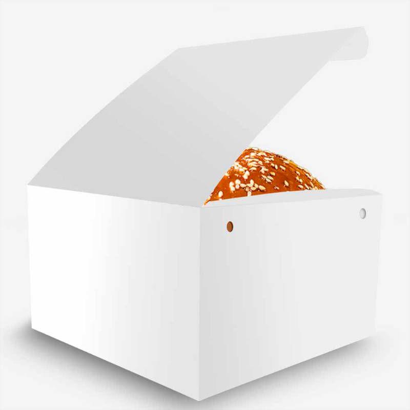 Box   Embalagem para Hambúrguer Gourmet P BRANCO - 100 unidades
