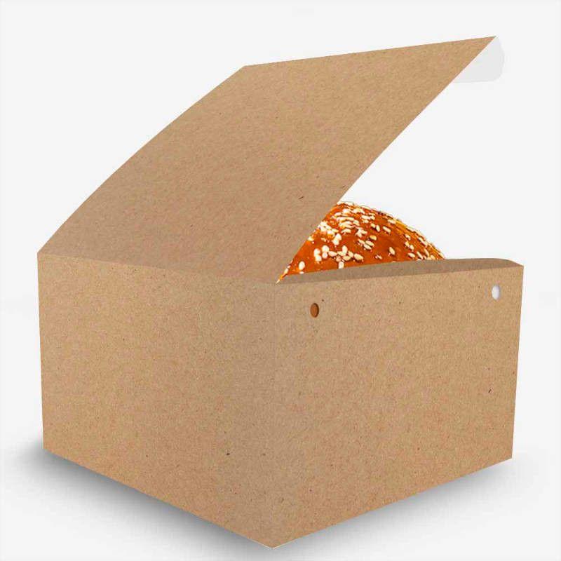 Box | Embalagem para Hambúrguer Gourmet P KRAFT - 100 unidades