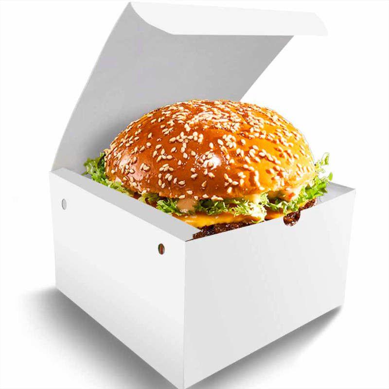 Box | Embalagem para Hambúrguer Artesanal G BRANCO - 100 unidades