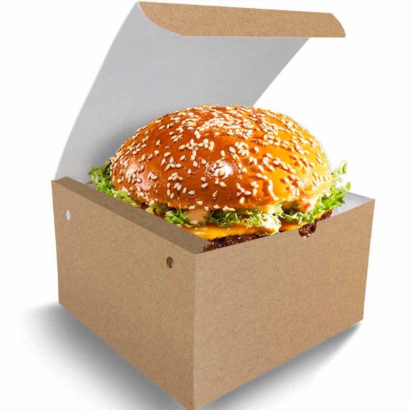Box | Caixa para Lanches ou Hambúrguer Grande KRAFT - 100 unidades