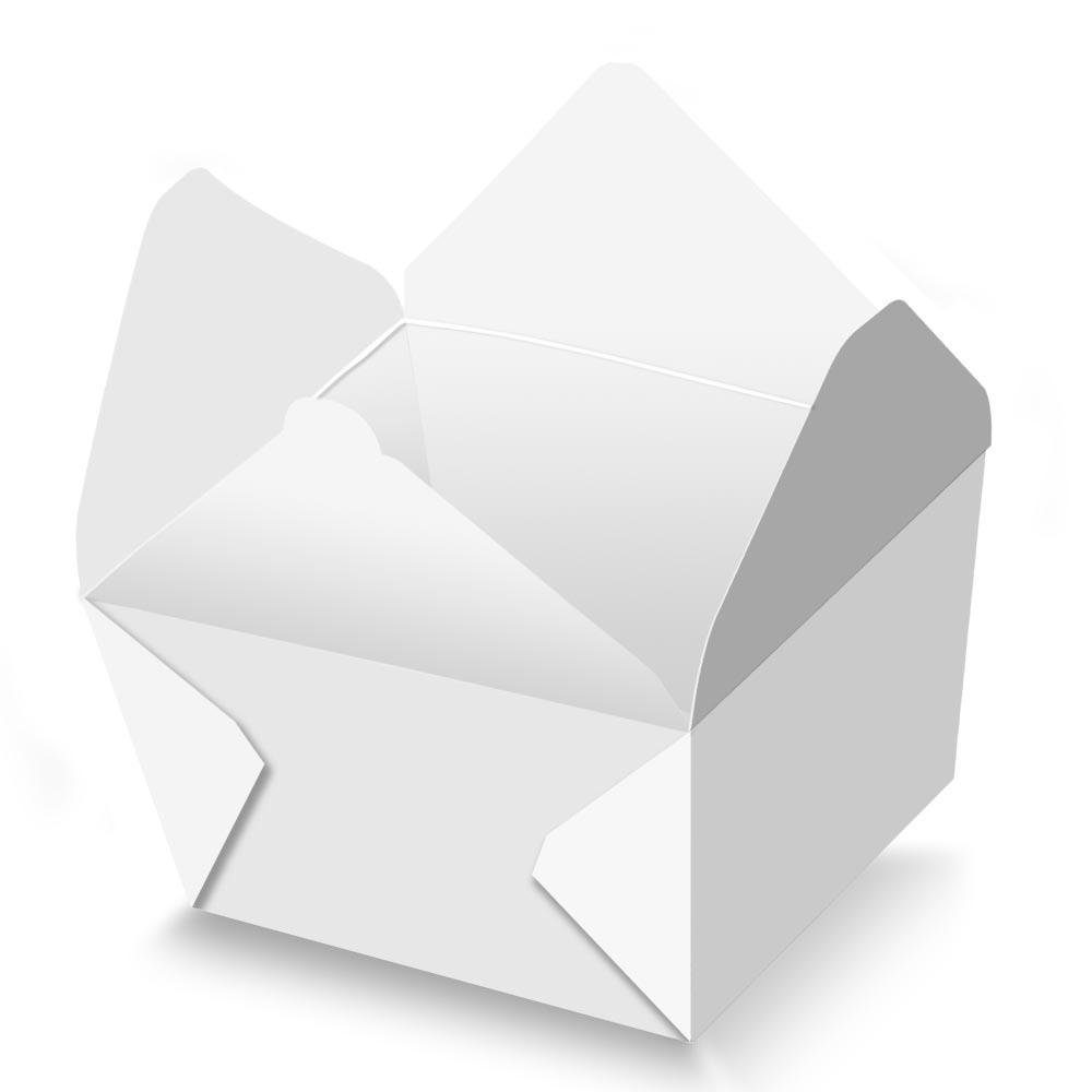 Box | Embalagem Delivery para Frango / Carne Assado ou Grelhado BRANCO - 100 unidades