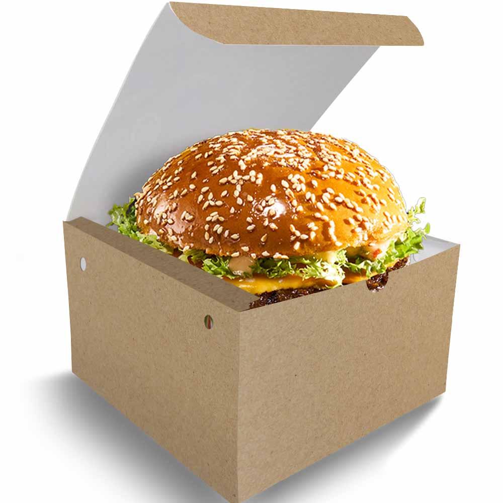 Box | Embalagem para Hambúrguer Delivery GG KRAFT - 100 unidades