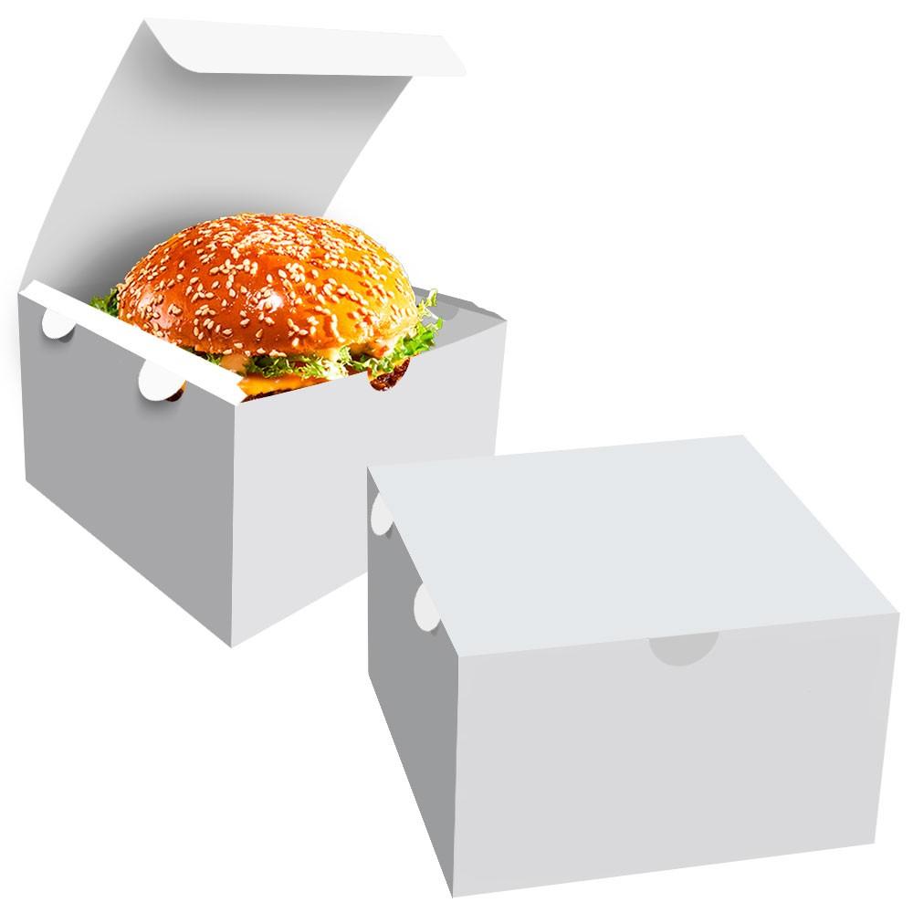 Box | Embalagem para Hambúrguer Gourmet P BRANCO - 100 unidades