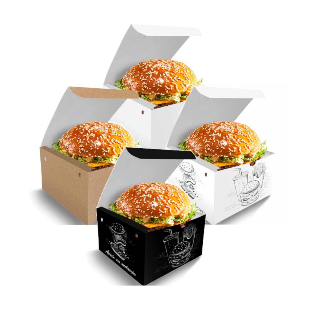 Box | Embalagem para Hambúrguer PEQUENO VÁRIAS CORES