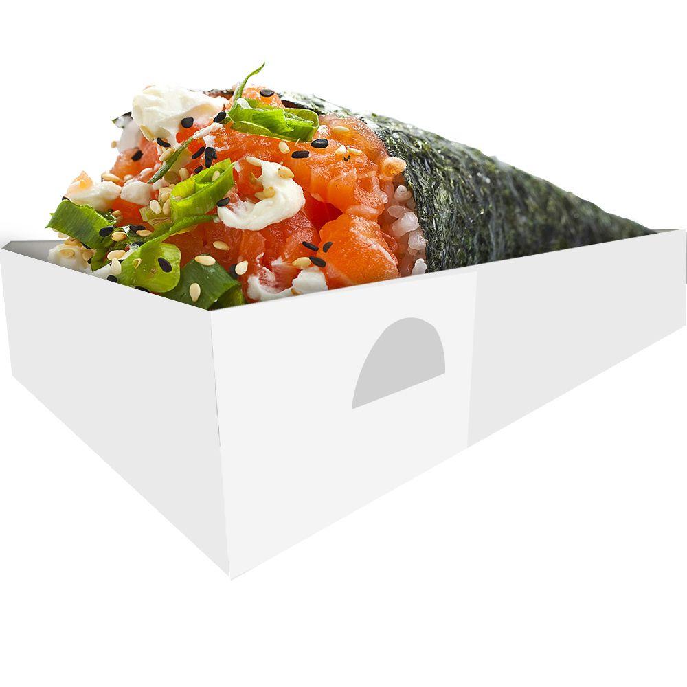 Embalagem para Temaki - Branco ou Kraft - 100 unidades