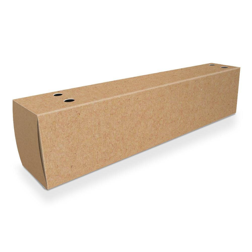 Caixa | Embalagem de Churros para Viagem - Branco ou Kraft - 1000 unidades
