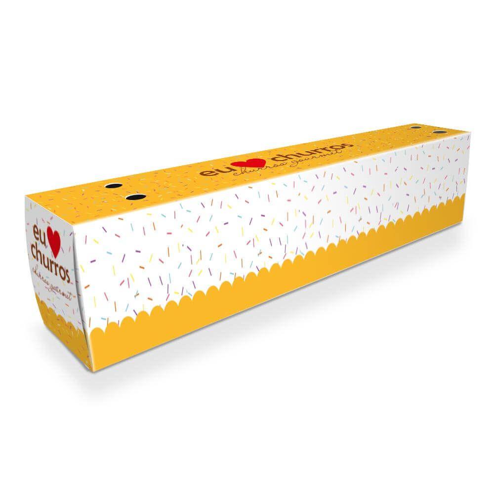 Caixa | Embalagem de Churros para Viagem - Várias Cores  - 1000 unidades