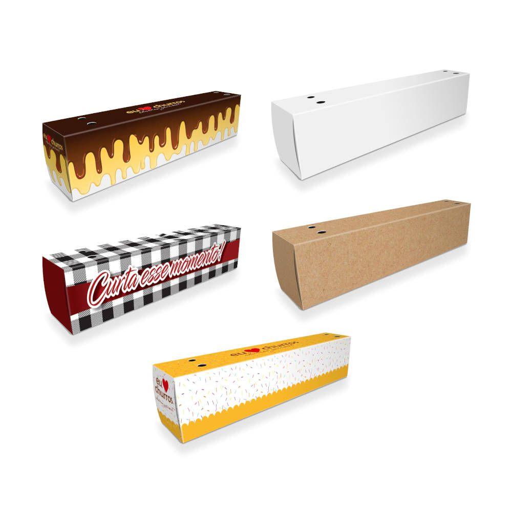 Delivery | Caixa de Churros para Viagem VÁRIAS CORES - 100 unidades