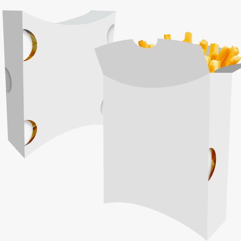 Caixa | Embalagem para Batata Frita Delivery BRANCO - 100 unidades