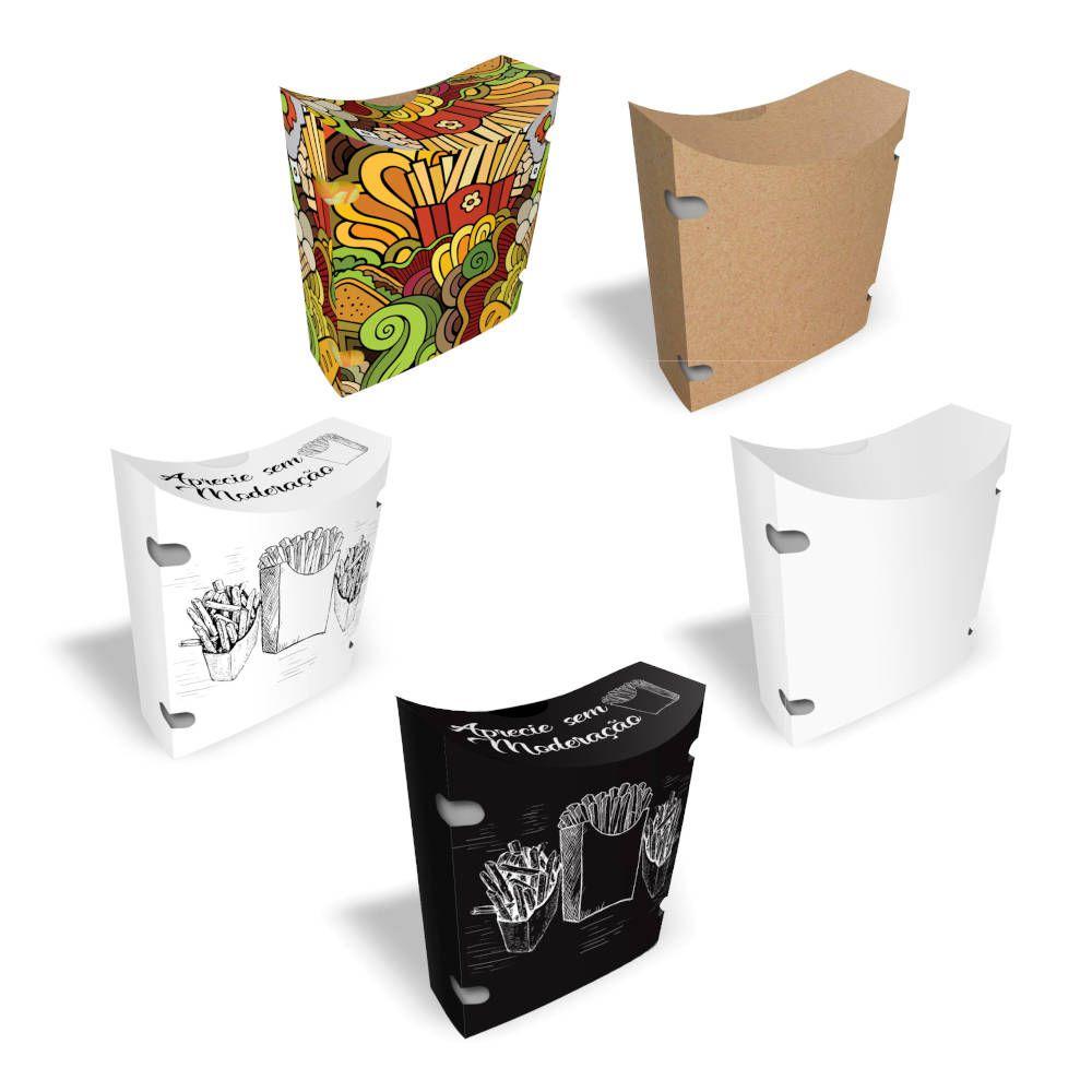 Caixa | Embalagem para Batata Frita Delivery - Várias Cores - 100 Unidades