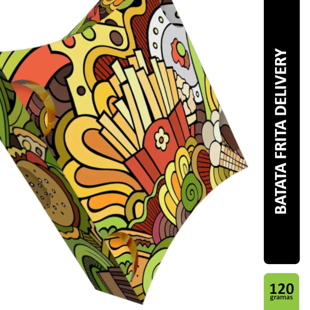 Caixa | Embalagem para Batata Frita Delivery VERDE - 500 unidades