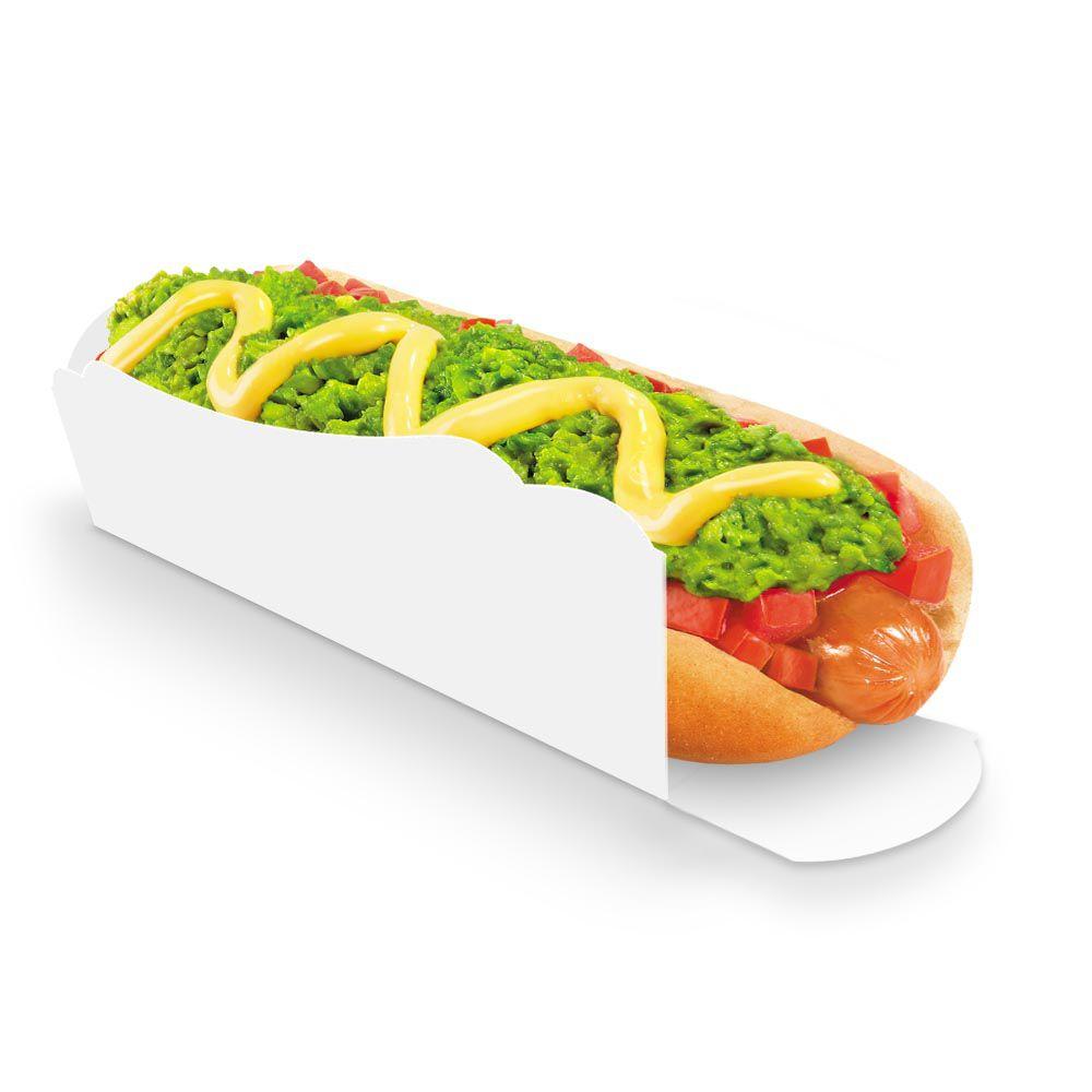 Caixa | Embalagem para Cachorro Quente 30cm BRANCO - 100 unidades