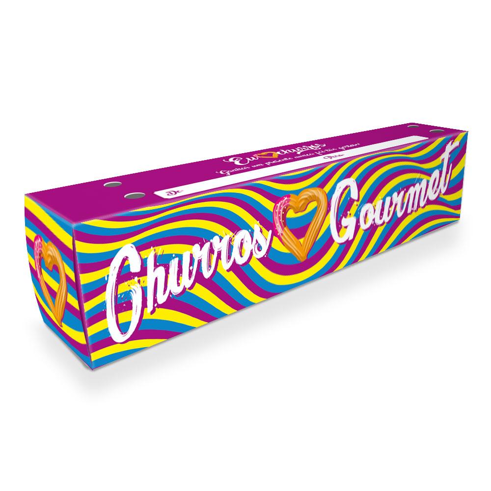 Caixa| Embalagem para Delivery 1 Churros ROXO - 100 unidades