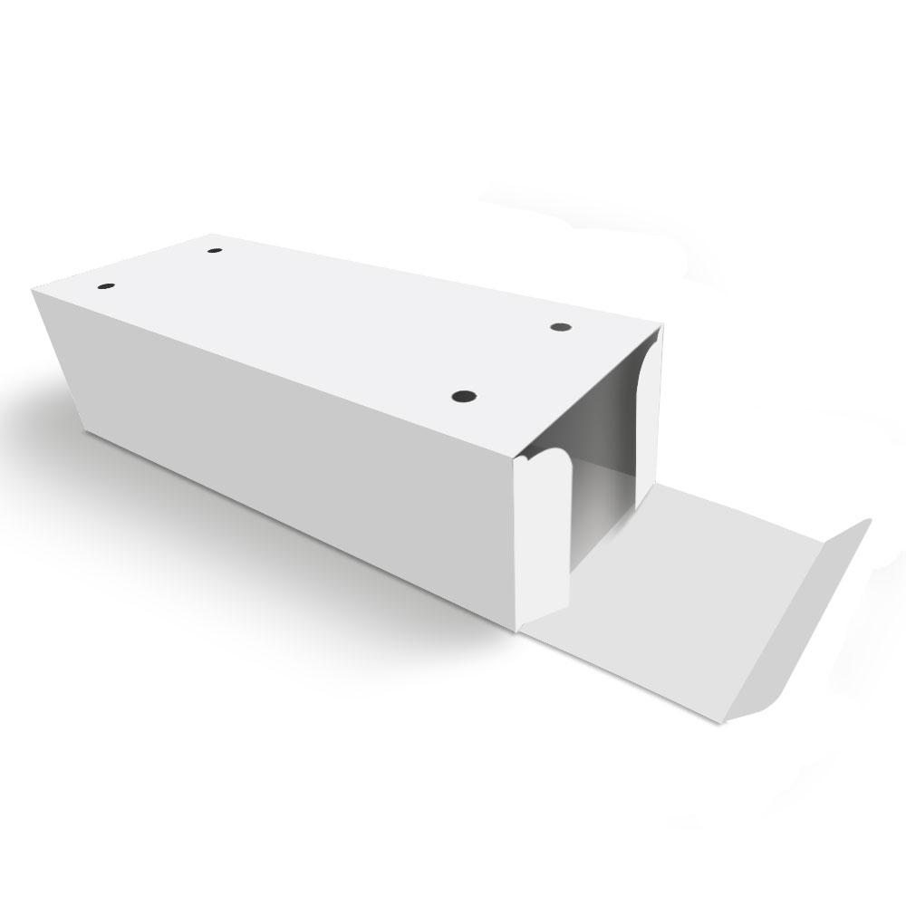 Caixa| Embalagem para Delivery 2 Churros BRANCO - 100 unidades