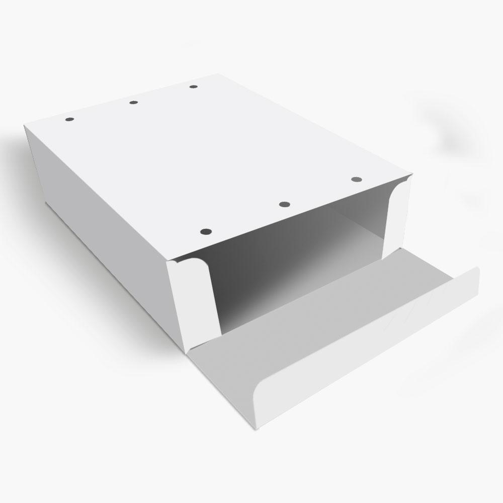 Caixa| Embalagem para Delivery 4 Churros BRANCO - 100 unidades