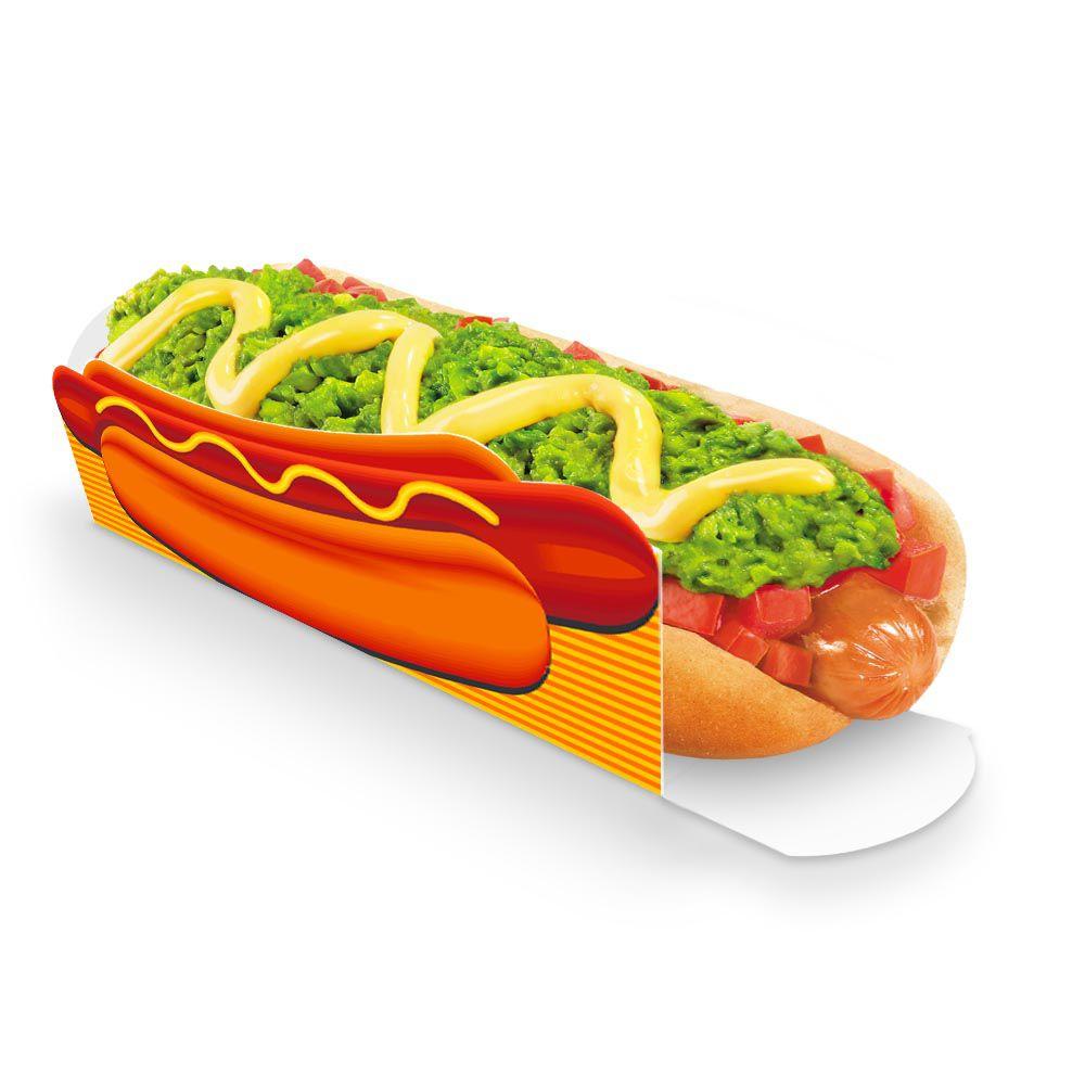 Caixa | Embalagem para Hot Dog 19cm LARANJA - 100 Unidades