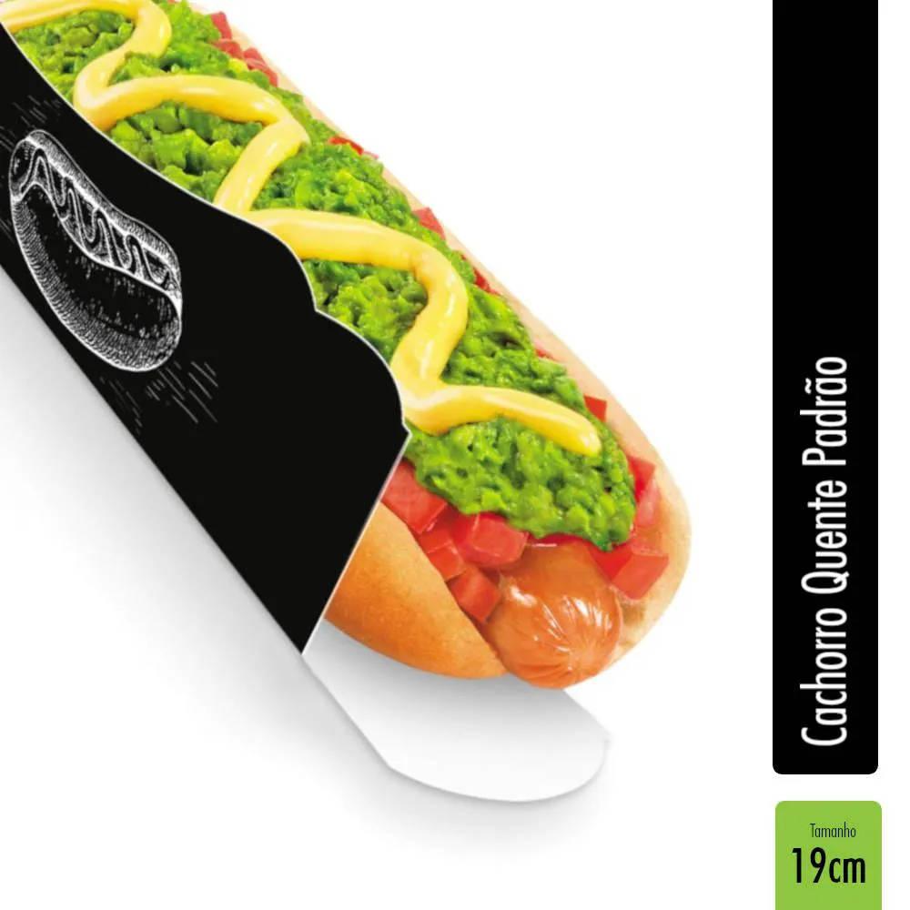 Caixa | Embalagem para Hot Dog 19cm PRETO - 300 Unidades