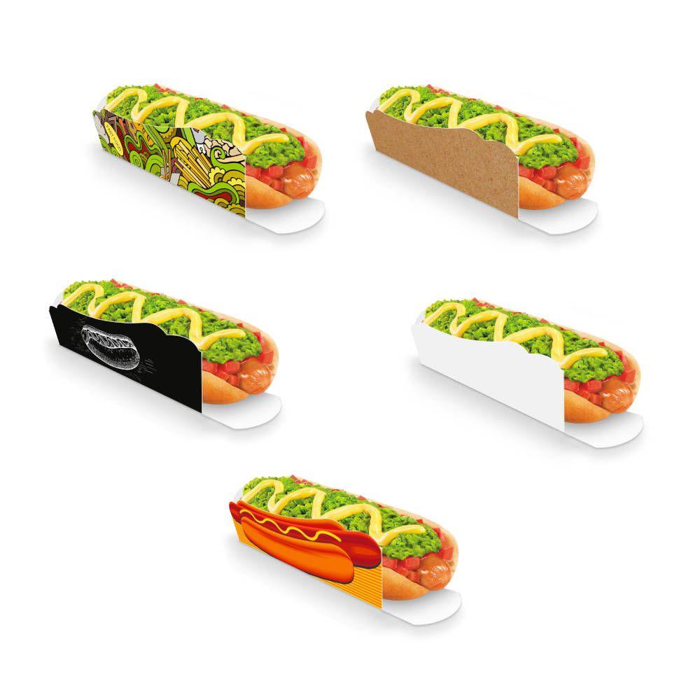 Caixa | Embalagem para Hot Dog 19cm - Várias Cores - 100 Unidades