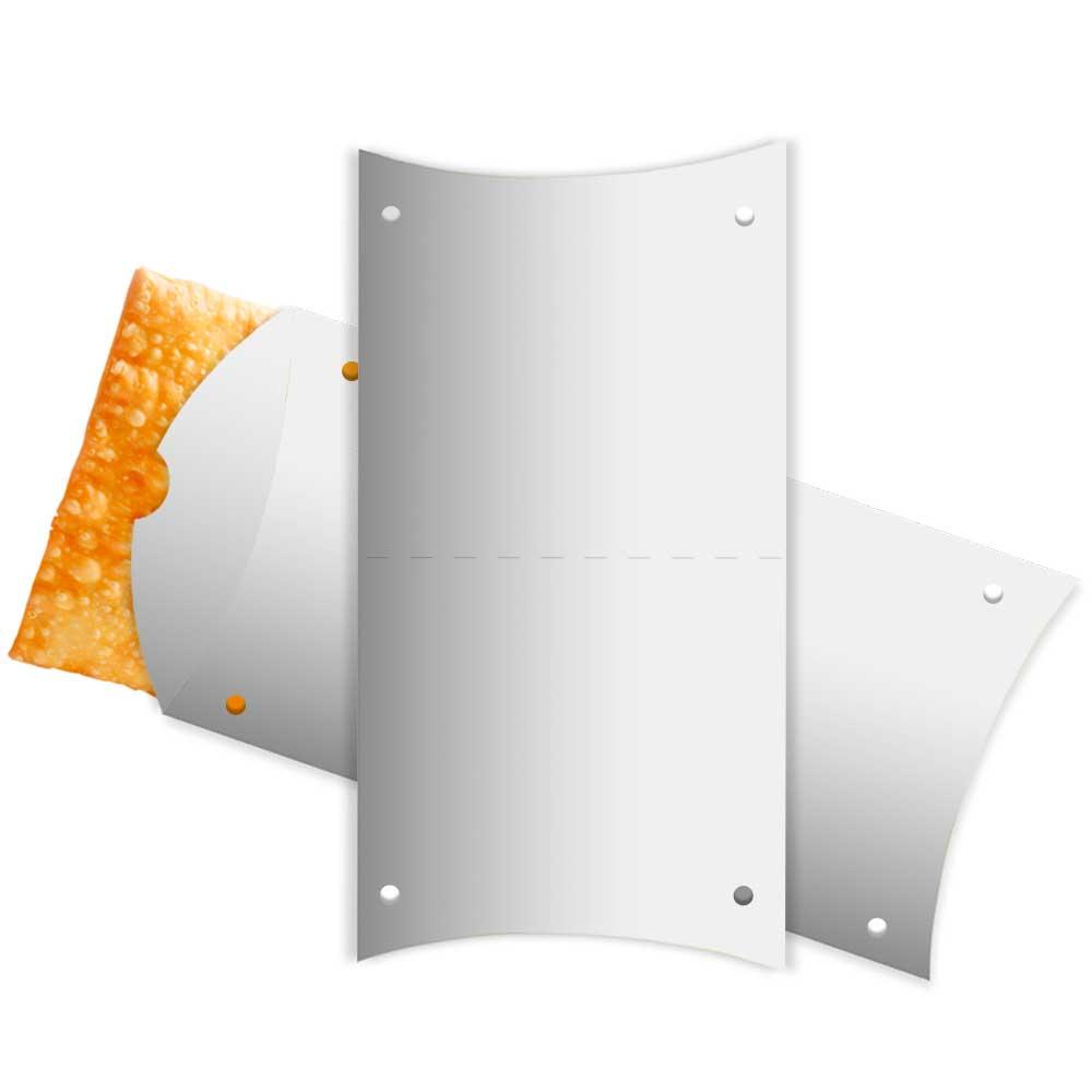 Caixa | Embalagem para Pastel Delivery BRANCO 31cm - 100 unidades