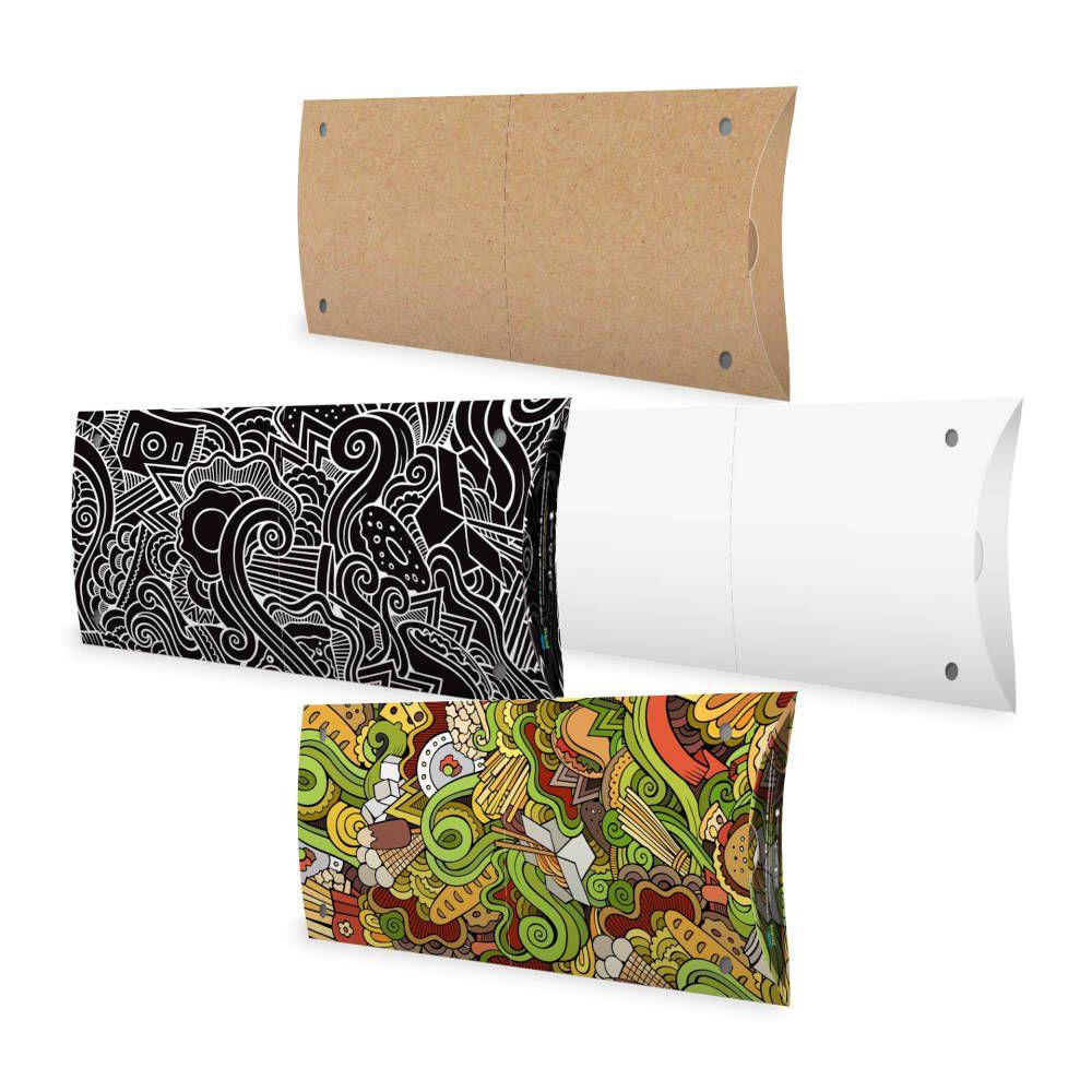 Caixa | Embalagem para Pastel Delivery - Várias Cores - 100 unidades