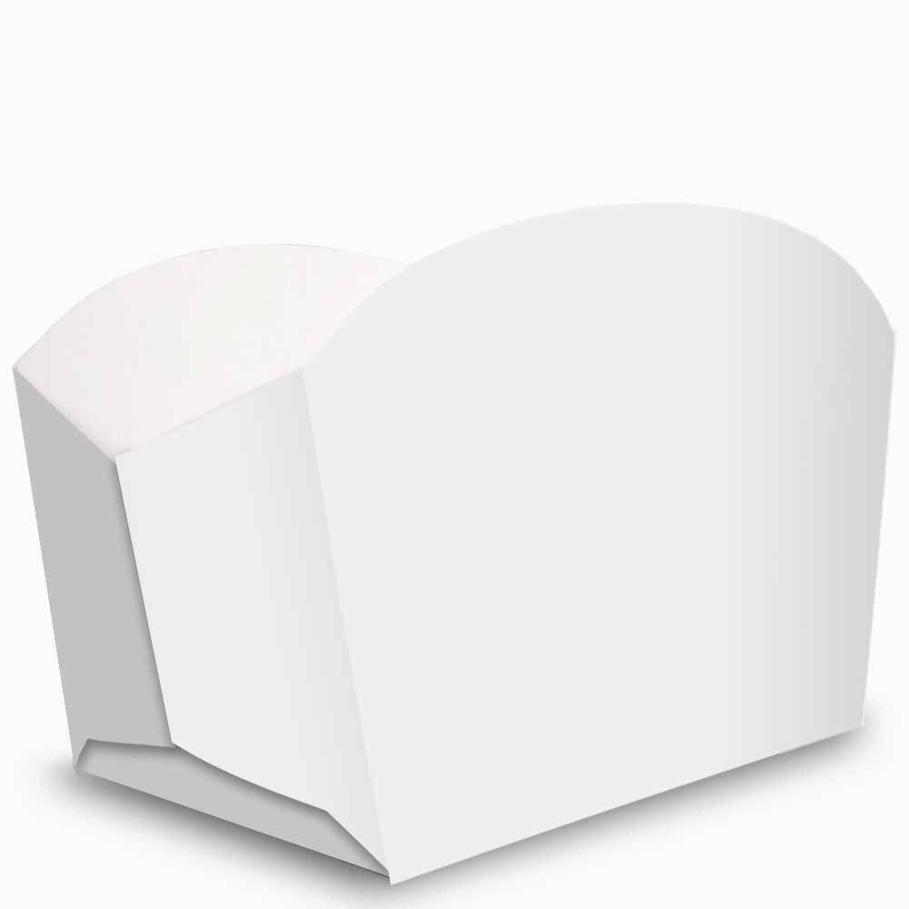 Caixa | Embalagem para Porções e Batata Frita BRANCO - 100 Unidades